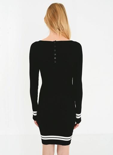 People By Fabrika Çizgi Detaylı Triko Elbise